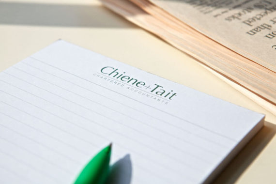 A Chiene + Tait notepad