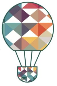 Graphic hot-air balloon