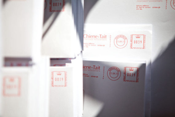 Chiene + Tait franked envelopes