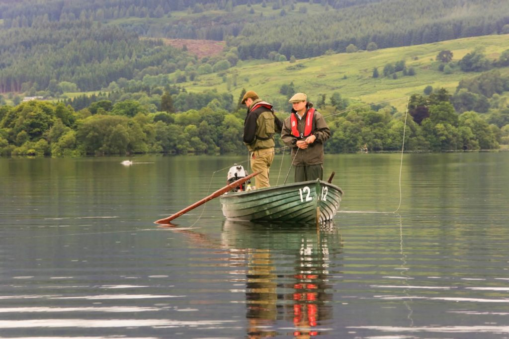 Fly fishing at The Lake of Menteith