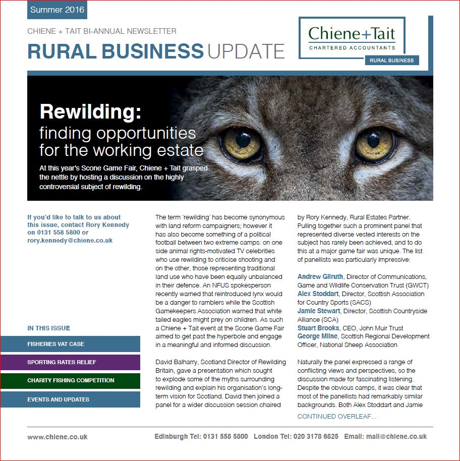 Rural Business Update Summer 2016 front cover