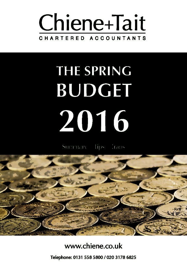 Spring Budget 2016 front cover