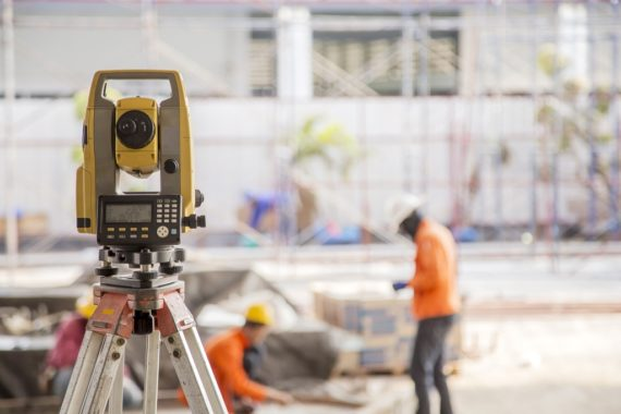 A surveyor's theodolite