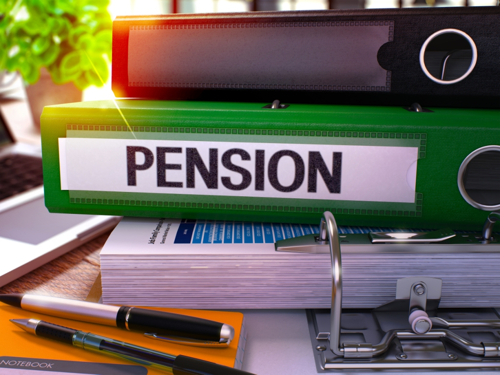A folder titled 'Pension'