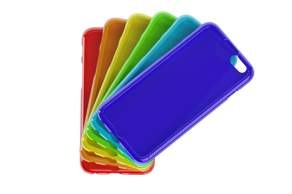 Coloured mobile phone cases