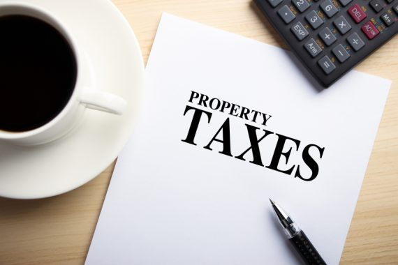 A sheet of paper titled 'Property Taxes'